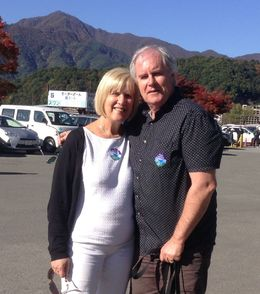 celebrating our 46th Wedding Anniversary on Mt Fuji , Ruth B - October 2015