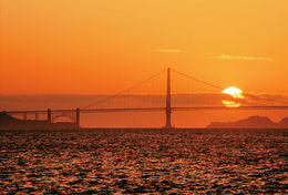 Photo of the San Francisco Sunset from October 2013 - Catamaran Cruise. , Sally W - October 2013