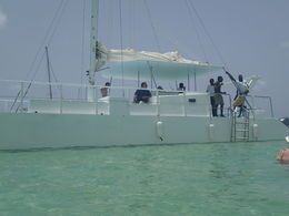 Picture of our Catamaran and Crew , Al - July 2014
