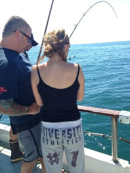 The captain was so awesome teaching my daughter how to reel in a big fish., Lindy - August 2014