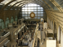 Looking down at the ground floor of the Musée d'Orsay from one of the upper levels., Tighthead Prop - September 2010