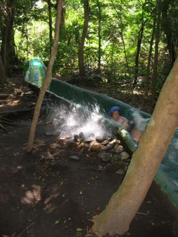 This is one of the turns going down the waterslide., Lance K - April 2008