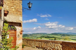 Looking over the Tuscan countryside in Pienza - August 2013