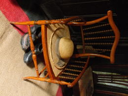 Beatrix Potters favorite hat and chair in the kitchen , Alan S - September 2017