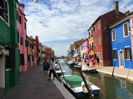 enjoying our walk around Burano , Anthony P - July 2014