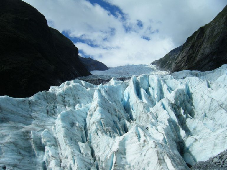 blue ice - Franz Josef & Fox Glacier