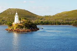 We cruised past this island lighthouse - as you can see the weather was beautiful , Robyn L - March 2013