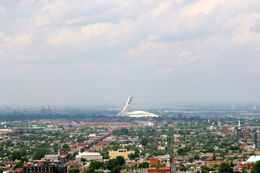 The Olympic Stadium and Tower Observatory as seen from the Mount-Royal. - May 2011