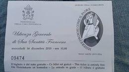 Todos recebemos um convite da Audiencia Papal , Marcos - December 2015