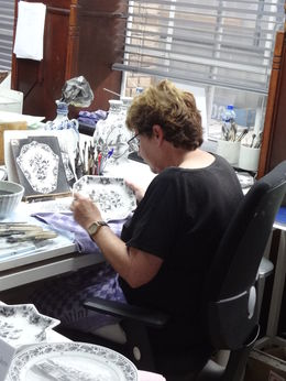 We were fortunate to be able to watch one of the artists hand painting! It was amazing to see how it is all done - you never appreciate these things until you witness what it takes to create them! , Terry P - July 2016