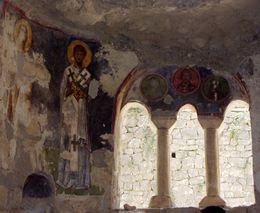 One of the frescos in the Church of St.Nicholas, Agnes R - June 2010