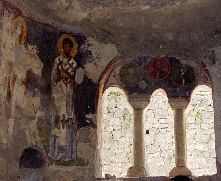 Fresco in the Church of St.Nicholas - Antalya