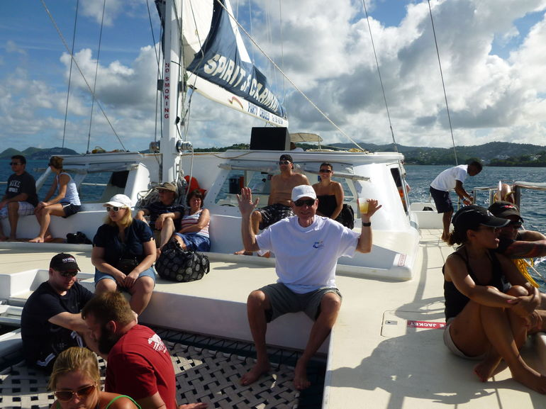 Fun on the Catamaran Day Sail and Tour - St Lucia