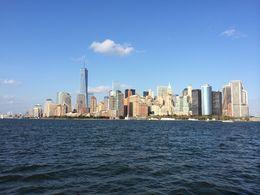 Manhattan skyline as seen from the Liberty island ferry , Gabriel G - September 2014