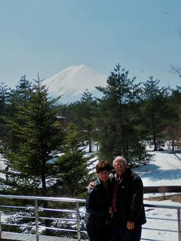 This is the one of warwick and I at the Visitor's Centre. The previous one is just of Mt Fuji. , Yvonne H - April 2014
