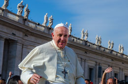 Pope Francis stopped briefly only about 10 feet from our position! , Bryan H - October 2014