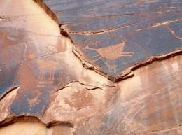 Our guide found these amazing petroglyphs in Monument Valley, World Traveler - October 2012
