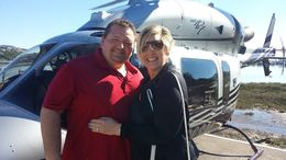 Chads 1st Helicopter ride around the SF Bay! , Wendy H - February 2015