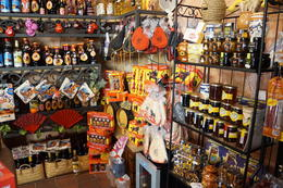 Gift Shop in Spanish Village Poble Espanyol , inateletin - July 2017