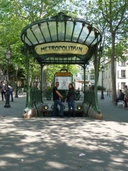 The Métro's original art nouveau entrances are iconic symbols of Paris., designed by Hector Guimard. Please also check out the graffiti-covered walls of the staircase (a never-ending walk up ... , Chou Fleur - October 2010