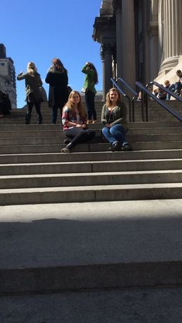 Carlee and Ali on the steps of the Met .... couldn't submit the other picture, Carlee made her sister sit several steps below! , Barbara B - April 2015
