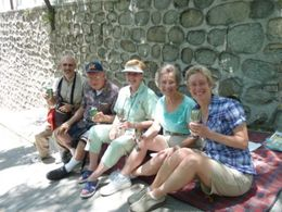 We found a shady spot to enjoy our snacks and champagne. There was plenty of food and drink. , Mark R - June 2014