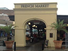 The entrance to the French Market , Leah - June 2014