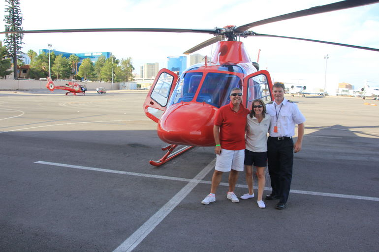 Jayne and Paul with our Pilot - Las Vegas