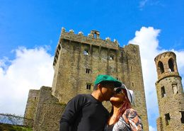 My wife and I kissing at Blarney Castle for our wedding anniversary , JumpingNorman - May 2014