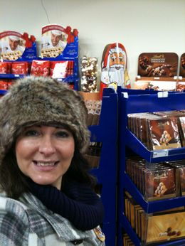 Inside Lindt chocolate factory in Zurich! yum, what a great place to stock up on your fav's, I had a ball!! , A nnamaria P - January 2012