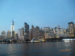 NYC skyline at dusk , tracey s - September 2013