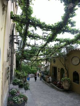 Walkway in Positano - second stop along the coast , Beth W - April 2016
