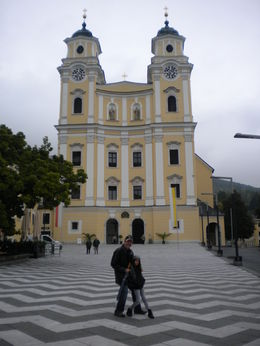 My daughter and I in front of the famous church from the movie. This town was great to explore! , eduardo - November 2012