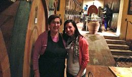 With the lovely Franca, our personal chef - August 2013