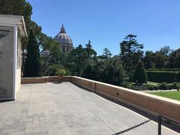 View of the Papal Basilica of St. Peter from the entrance of the museum , David M - August 2017