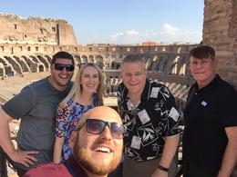 Luca, our tour guide, with us and are follower travelers. , William S - October 2017