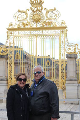 My husband and I at the Golden Gates of Versailles , Berenice V - May 2015