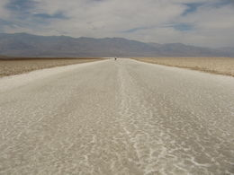 Badwater Basin salt flat in Death Valley, 282 ft/86 m below sea level. , Shaun J - October 2013