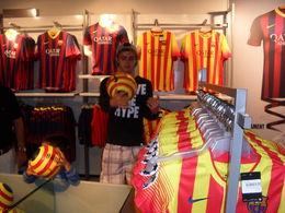 Sam, the next Barcelona player! Lol , Sharon - September 2013