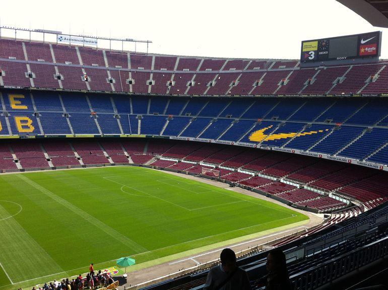 Camp Nou fra oven - Barcelona