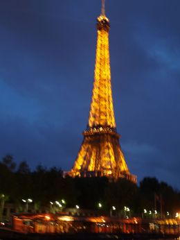 The iconic Eiffel Tower in its nightly splendor, Dorothy M - July 2010