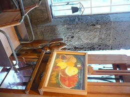 This is a pic of Frida's art area. , Yolande T H - October 2014