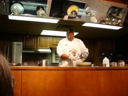 Kevin cooking, New Orleans Cooking Class. It was a hoot., Robert M - November 2010