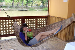 Oh you know, just relaxing on a hammock with a coconut drink in hand, no big deal, Bing - January 2013
