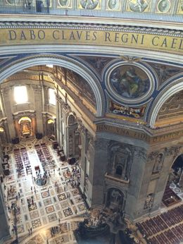 Stunning views and great perspective on the incredible size of the Basilica , Brian E - July 2015