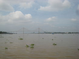 View of the bridge over the Mekong River - December 2011