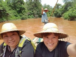 Me and my best friend enjoyed the bamboo rafting , Sook Wai Mabel C - July 2016