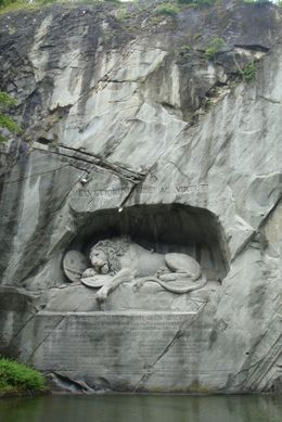 The Lion Monument at Mount Pilatus, RAMI - July 2009