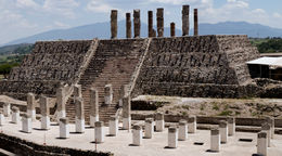 The ruins of an ancient Mesoamerican city from the Toltec empire in Tula, Mexico - June 2011