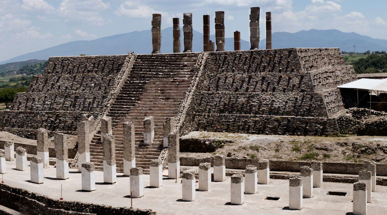 Toltec temple ruins in Tula, Mexico - Mexico City